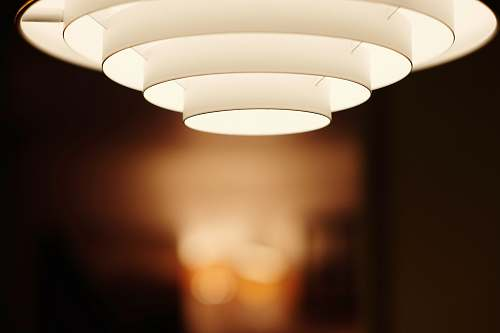 photo minimal selective focus photo of white ceiling light lamp free for commercial use images