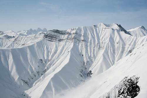 snow birds eye photography of snow covered mountain ice