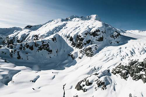 snow glacier mountains during daytime glacier