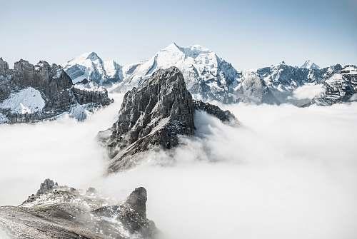 nature landscape photo of mountain alps snow
