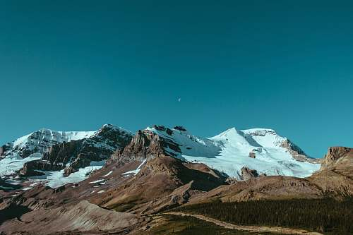 nature landscape photography mountain range with snow outdoors