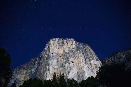 yosemite lowangle photography of gray mountains at nighttime yosemite valley