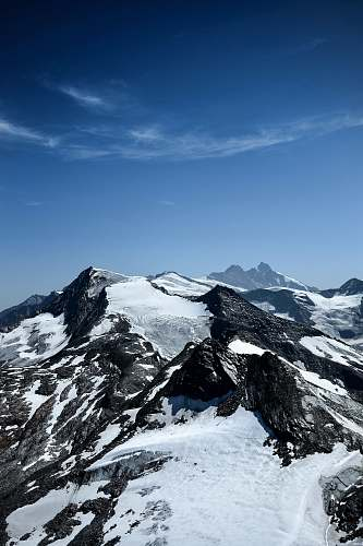 alps mountain range covered with snow nature