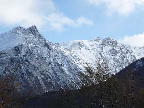 nature snow coated mountain during daytime mountain range
