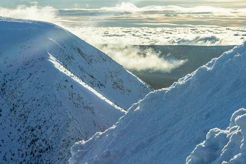 nature snow mountains outdoors