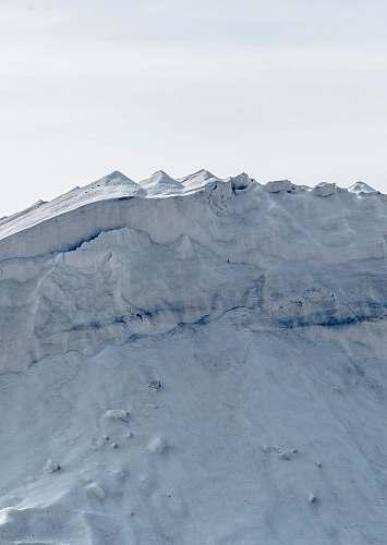 ice white glacier nature