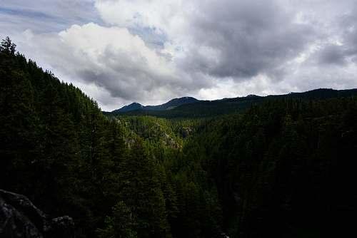 sky aerial view of mountain dark