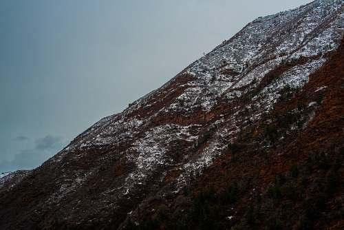 mountain brown mountain slope