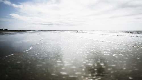 outdoors closeup photography of seashore ice