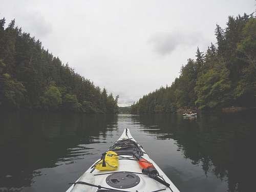boat landscape photo of river canoe