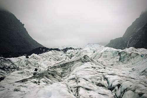 ice mountain covered by snow glacier