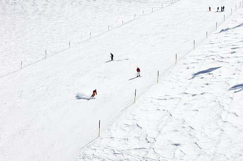 slope people skiing on snow outdoors