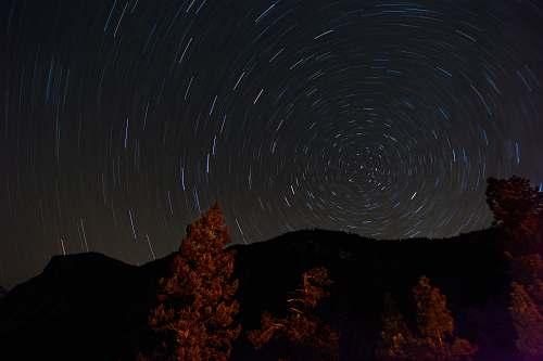 landscape time lapse photography of stars night