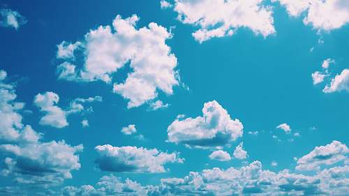 outdoors white and blue clouds azure sky