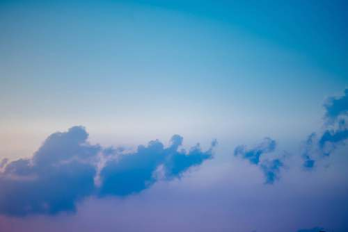 blue white clouds from above cloud