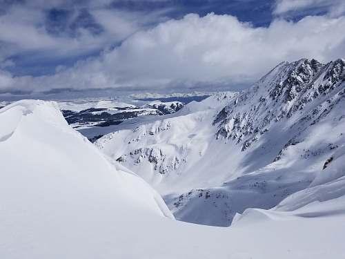 mountain white snow mountain outdoors