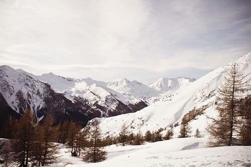 mountain snowy mountain nature