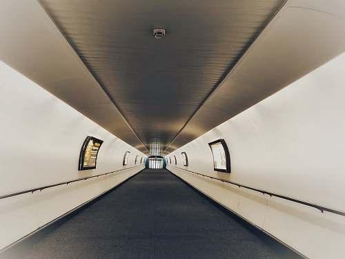walkway empty hallway gatwick