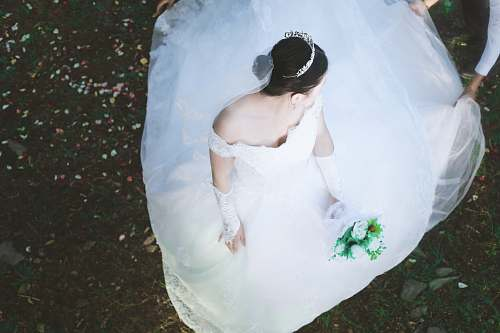 human photography of woman in wedding dress people