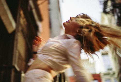 human women's white button-up collared shirt new york