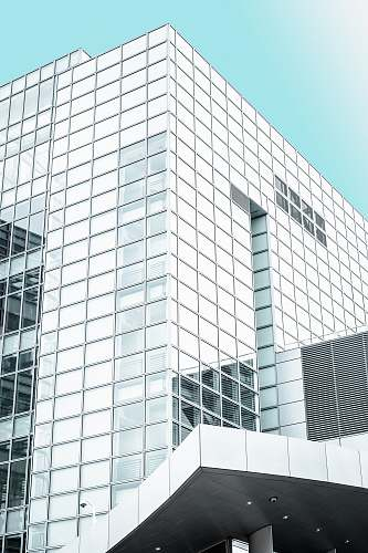 architecture white and clear glass high-rise building building