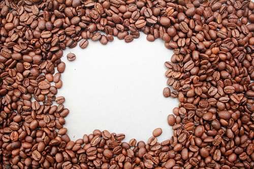 bean pile of coffee beans food
