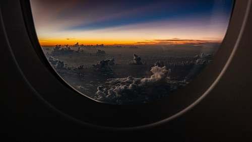 flare plane window light