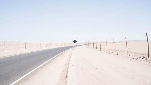 nature highway in desert outdoors