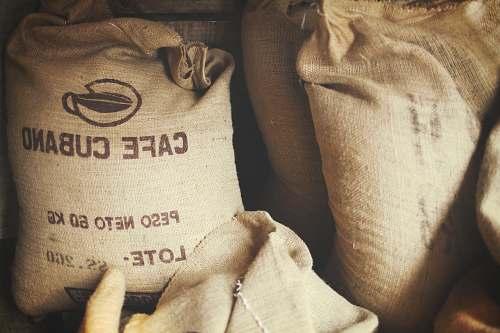bag brown cafe cubano sacks cushion