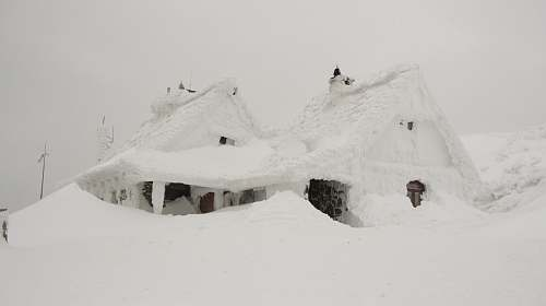 house house covered in snow winter