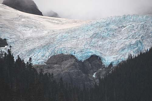 glacier snow covered mountain ice