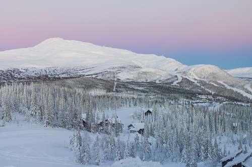 sweden snow-covered mountain mountain