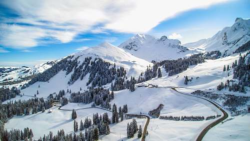 mountain snow covered mountains alps