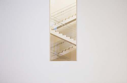 stairwell painting of stairs with white wooden frame white space