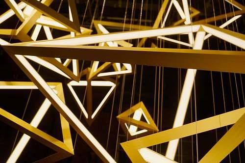 light pyramid shaped chandeliers lighting