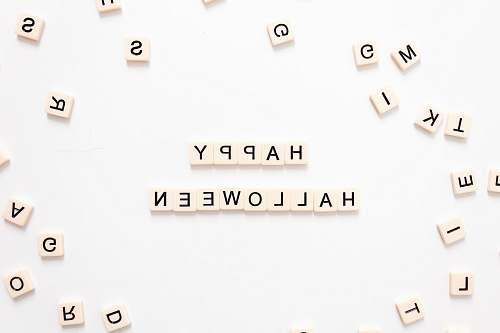 alphabet Happy Halloween text symbol