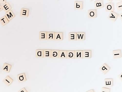 symbol we are engaged letter blocks number