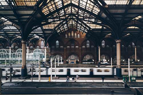 london gray and black train station liverpool street station