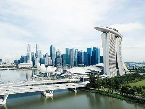 vessel Singapore skyline watercraft