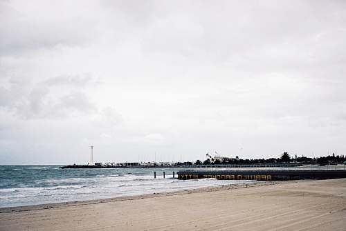 pier panoramic photography of the beach during daytime waterfront