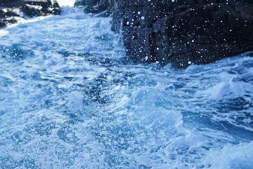 blue water waves splash