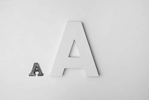 black-and-white A decorative lettering grey