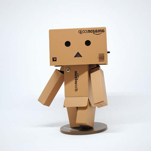 cardboard Amazon cardboard box character figurine box