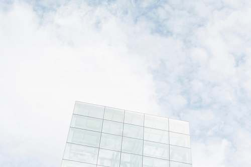 sky photo of clear building geometric