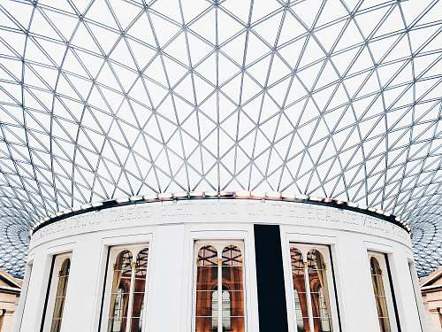 architecture photo of white building british museum