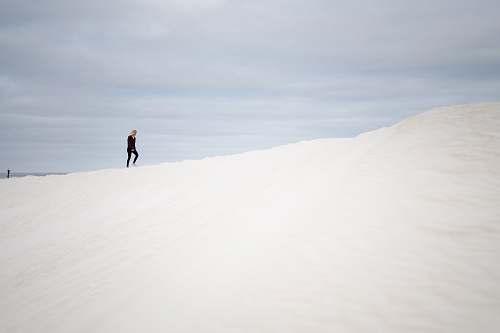 soil white and black snow ski outdoors