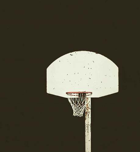 hoop white and brown basketball hoop basketball