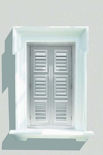 grey white wooden window shutter window