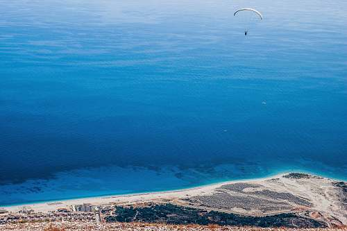 leisure activities parachute over island gliding