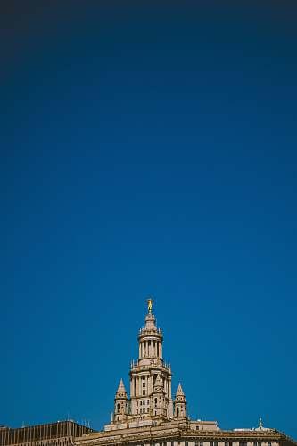 building beige church spire